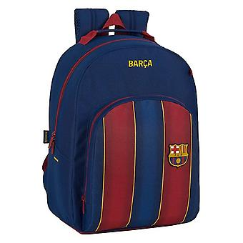 School Bag F.C. Barcelona Maroon Navy Blue