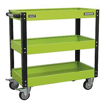 Wózek warsztatowy Sealey Cx110Hv 3-poziomowy o dużej wytrzymałości - Green Vis