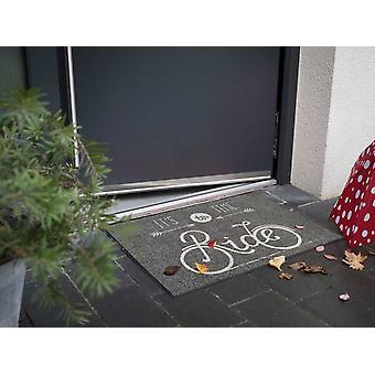 Salonloewe doormat Time to Ride grey 50 x 75 cm washable