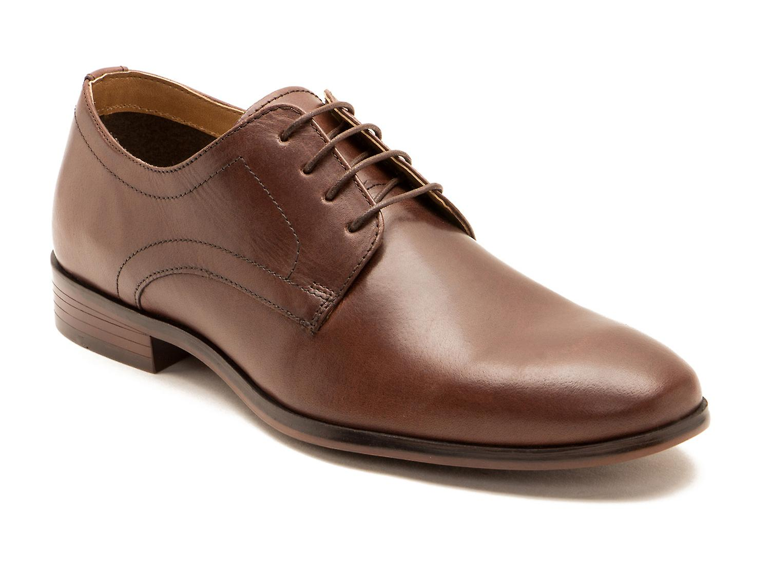 Red Tape Silwood Brown Leather Formal Mens Derby Shoes