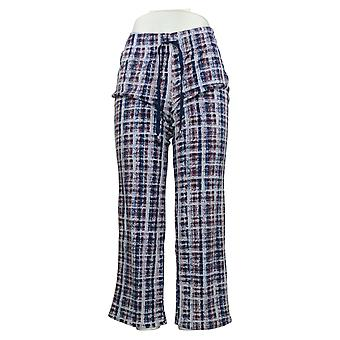 Cuddl Duds Dames's Petite Pants Ultra Pluche Fleece Paars A381812