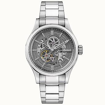 Ingersoll I06804 The Armstrong Automatic Silver Stainless Steel Skeleton Mens Watch