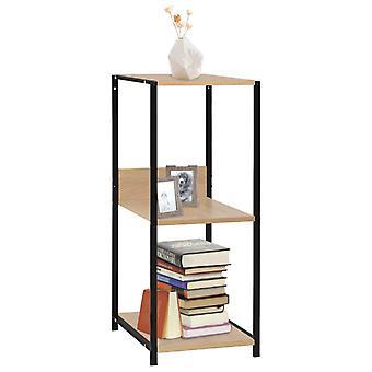 vidaXL Small bookshelf Black oak colours 33,5x39,6x79,7cm
