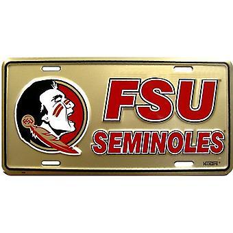 Florida State Seminoles NCAA Guld registreringsskylt