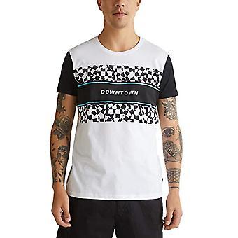 edc by Esprit 040cc2k306 T-Shirt, 100/White, XXL Men's