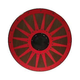 Wooden Viking handmade shield metal wheel SWE42