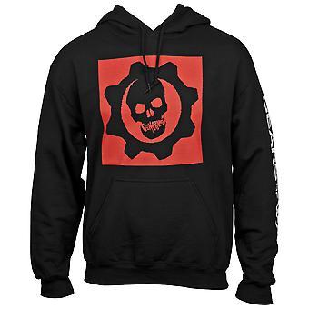 Gears of War Symbol Hoodie With Sleeve Prints