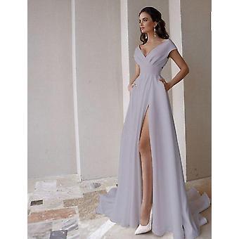 Скромное свадебное платье с V-образным вырезом (Комплект 1)
