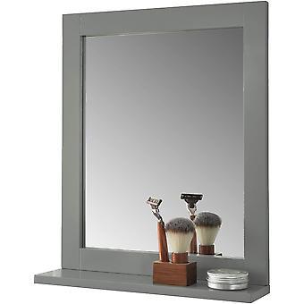 SoBuy espejo de baño montado en la pared con estante de almacenamiento,FRG129-SG