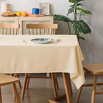 مفرش المائدة نقية اللون الرسوم المتحركة الطازجة بطانة مفرش المائدة بسيطة مستطيلة قماش الجدول