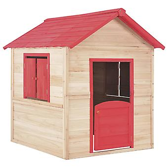 vidaXL Kinderspielhaus Tannenholz Rot