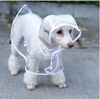 1Pc gennemsigtig vandtæt hund tøj gennemsigtig regnfrakke kæledyr tøj hvalp regnfrakke hættetrøje tøj til hunde