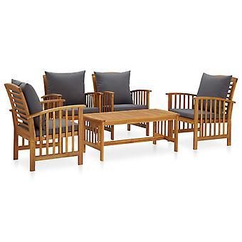 vidaXL 5-tlg. Kit de jardin-salon avec des tirages en bois massif acacia