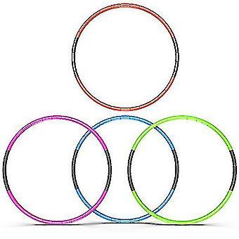 8 عقدة قابلة للطي هولا هوب 70cm اللياقة البدنية ممارسة الرياضة تجريب هولا للأطفال (الأصفر)