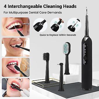 elektrisk sonisk dental scaler tann flekker tartar verktøy utskiftbart børstehode| Orale irrigatorer
