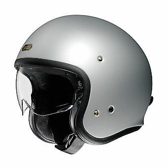 Shoei J.O. ljus Öppen ansikte Motorcykel Hjälm Silver