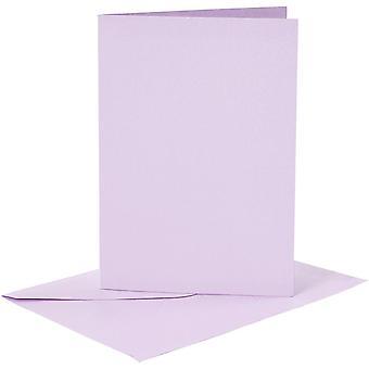 6 a6 cartão lilás blanks e envelopes para artesanato