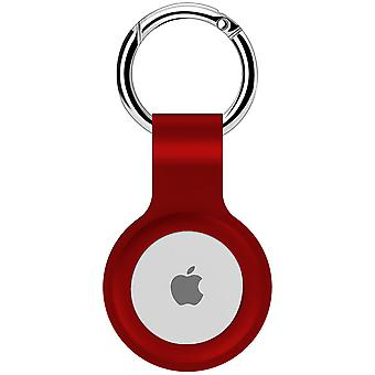 Protective cover silicone case for airtag  - red