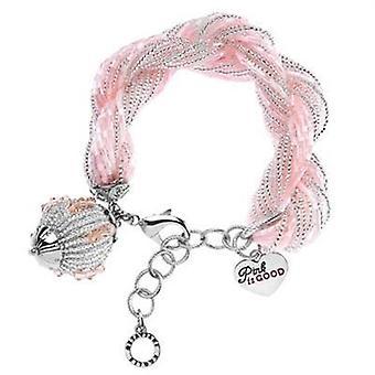 Ottaviani jewels bracelet with pink beads 470616
