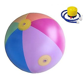 Opblaasbare Water Jet Ball 75cm Grote Grootte Outdoor Water Playing Ball Summer Water Jet Beach Ball Lawn