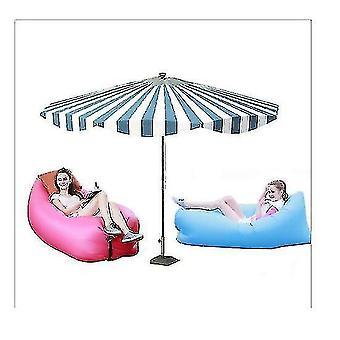 Gonflable?canapé extérieur?portable étanche à l'eau Anti Air Fuite Chaise longue?air?canapé?hamac Chaise(ROSE)