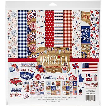 """Kit de coleção do Echo Park 12""""X12"""" - América"""
