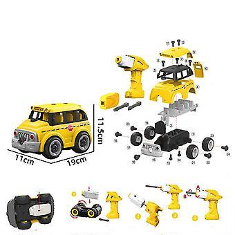 Children's afneembare afstandsbediening schoolbus speelgoed