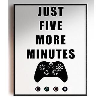 GnG Gaming A4 Word Sitat Plakater For Barn Soverom Kunstverk 5 Minutter XB