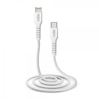 USB-C to Lightning Cable SBS TECABLELIGTC1W 1 m White