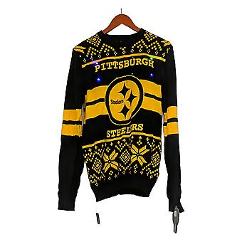 NFL Homme Pittsburgh Stealers Pull LED Lighted Ugly Pullover Noir A371650