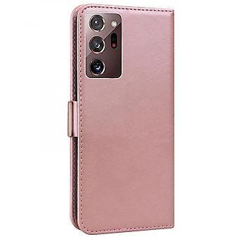Case For Samsung Galaxy Note 20 Ultra Wallet Flip Pu Leather Cover Card Holder Coque Etui - Pink Cat