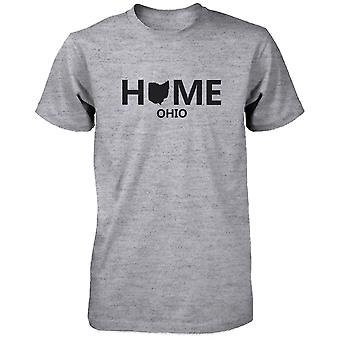 Hem OH statligt grå mäns T-Shirt USA Ohio hemstad bomullsskjorta