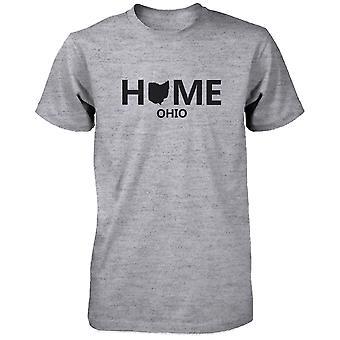 Home OH State Grey Men's T-Shirt US Ohio Hometown Cotton Shirt