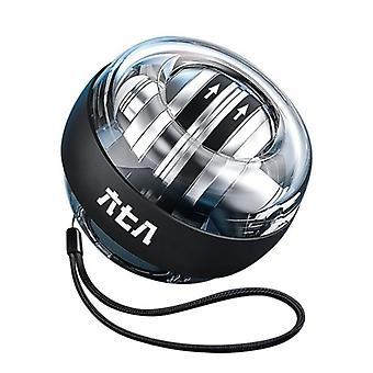 LED ג'ירוסקופי פאוורבול אוטומטי טווח Gyro כוח כדור כף היד (שחור)