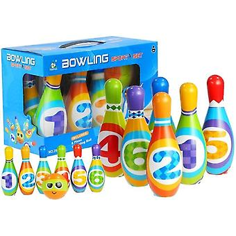 Bowling Set Kind - Buntes Set - mit Schaumstoffstiften - 17 cm