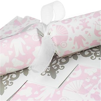 10 große rosa Baby Shower Cracker - Machen und füllen Sie Ihr eigenes Kit ohne Bänder