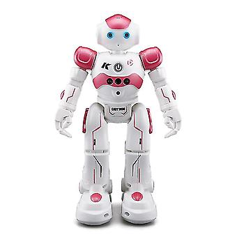 Pink rc robot toy for kids remote control robot gesture sensing mz718