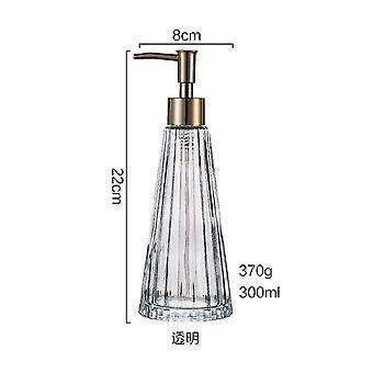 Soap dishes holders 1piece glass bottle hand washing liquid emulsion soap dispenser retro bottle bathroom transparent