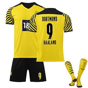 Haaland #9 Trikot Home 2021-2022 Neue Saison Herren Borussia Dortmund Fußball T-Shirts Trikot Set
