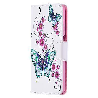 Samsung Galaxy A12 Modèle de cas Papillon Floral