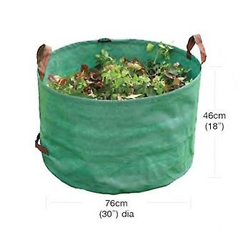 Large Heavy Duty Garden Bag Green Polyethylene