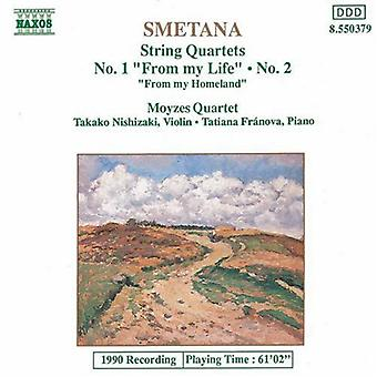 B. Smetana - Smetana: String Quartets Nos. 1 & 2; From My Homeland [CD] USA import