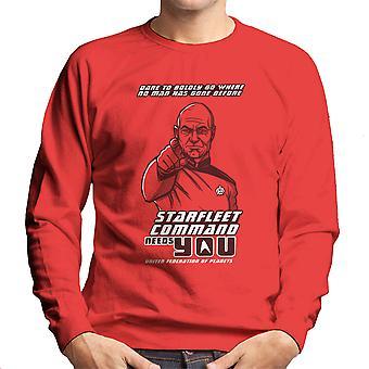 Starfleet Command Needs You Star Trek The Next Generation Men's Sweatshirt