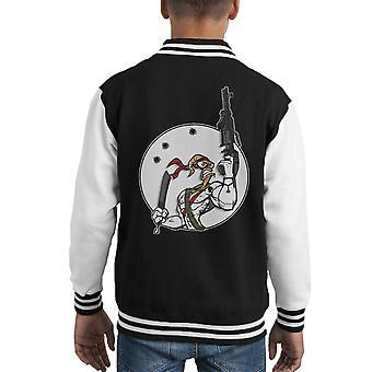 Battle Worm Earthworm Jim Kid's Varsity Jacket