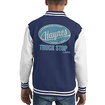 Haynes Marke Truck Stop Kid es Varsity Jacket