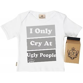 Spoilt Rotten Only Cry At Babys T-Shirt 100% Organic In Milk Carton