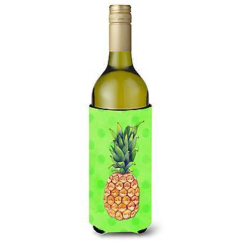 Ananas grüner Polkadot Wein Flasche Beverge Isolator Hugger