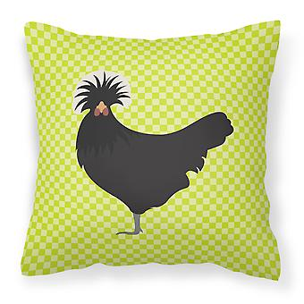 Pologne polonais poulet vert tissu oreiller décoratif