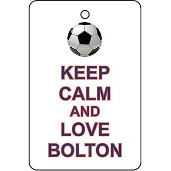 Keep Calm And Love Bolton Car Air Freshener