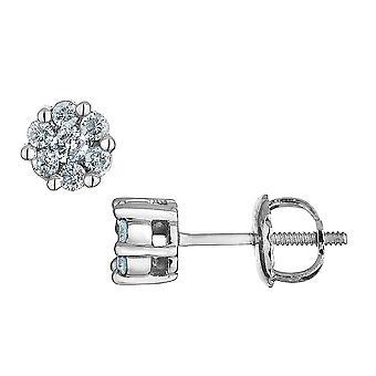 Diamond Stud Earrings 1/8 Carat (ctw) in 10K White Gold